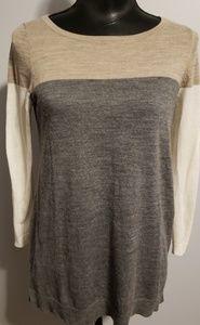 Ann Taylor Loft Color Block Sweater size M